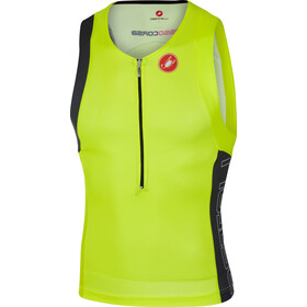 Castelli Free Tri Top Herrer, yellow fluo/black